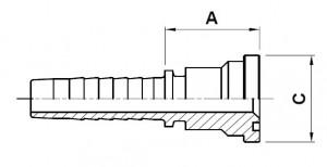10217-..-.. SAE 3000PSI (Code 61) Perskoppeling