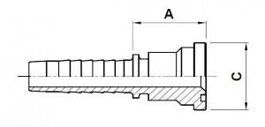 10218-..-.. SAE 6000PSI (Code 62) Perskoppeling