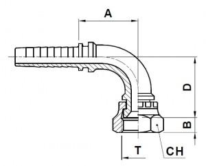 10915-..-.. JIC Perskoppeling