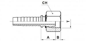10216-..-.. Metrische Perskoppeling (60° Conus)