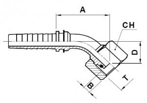 10895-..-.. Metrische Perskoppeling (Lichte serie)