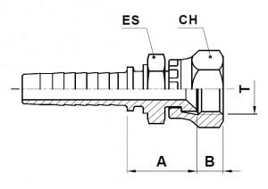 10219-..-.. JIS Perskoppeling (Metrisch)