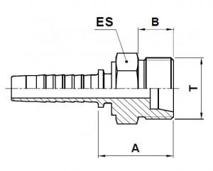 10280-..-.. Metrische Perskoppeling (Lichte serie)